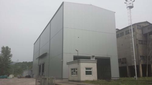 Termoelektrana Kakanj – oblaganje hale u Termoelektrani